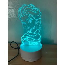 Lámpara multicolor personalizada