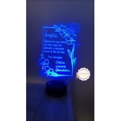 Lámpara flores personalizada