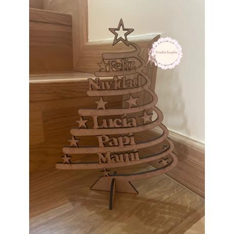 Árbol navidad madera personalizado