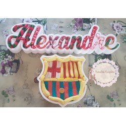 Nombre hueco y escudo Barça